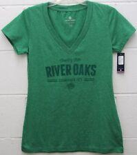 River Oaks Golf Country Club Women's Entice Tee Shirt V-Neck Green M Medium New