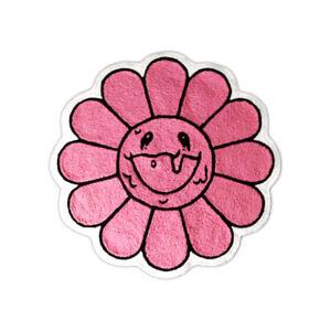Custom Made Kaikai Takashi Murakami Pink Flower Indoor Floor Door Mat Rug Carpet
