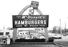 "5x7"" photo 1960's  McDonalds DRIVE-IN BURGERS 2 MILL SOLD COAST to COAST"
