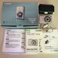 Canon  IXUS 50 / PowerShot SD400 Digital ELPH 5.0 MP Digital Camera - Silver