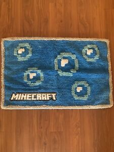 Minecraft Retired RUG BATH MAT BLUE Official Licensed product Bathroom Rug