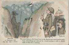 WW1 Military Art Comic F Mackain Sketches of Tommy's Life Up the Line No 5