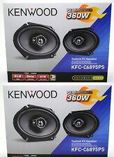 "4 x NEW Kenwood KFC-C6895PS Performance Series 6x8"" 3-Way Custom Car Speakers"