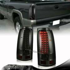 For 1999-2006 GMC Sierra 1500/2500/3500 Smoked Lens LED Tail Lights Lamps