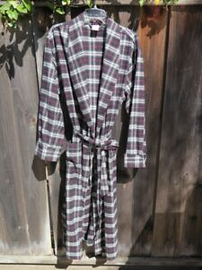 BROOKS BROTHERS Plaid Cotton Flannel ROBE size M