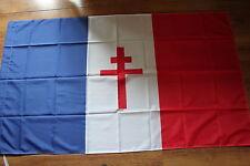 REPLIQUE DU DRAPEAU FRANCE LIBRE  Dimension 90 X 60 cm WW2
