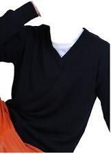 Balldiri 100% Cashmere señores suéter escote en V 4-fädig negro XXXXL