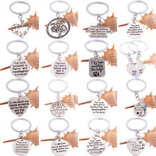 Xmas Sister Family Mom Friend Key Chain Keyring Keychain Charm Jewelry Silver