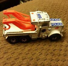 1981 Matchbox Peterbilt Tow Truck Police White& Blue & Orange Rare