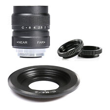 FUJIAN 25mm f/1.4 C Mount CCTV f1.4 Lens for Micro 4/3 m4/3 EPL5 EPM3 EPL7 BLACK