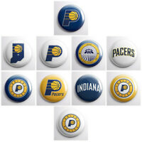 "INDIANA PACERS - NBA basketball pinback buttons - sports team badges - 1"" pins"