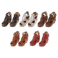 Delicate 1/3 BJD Doll Rivet Shoes Peep-Toe Sandals for DOD Dollfie AOD Outfit