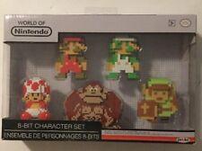 World of Nintendo Super Mario 8-Bit Character Set 5-Pack Jakks - Free Shipping