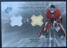 Dominik Hasek 2001 Spx Treaures Game Used Jersey & Stick Card Sabres Mint