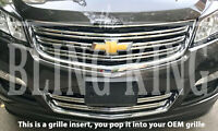 2013-2017 Chevy Traverse LS chrome grille grill insert overlay trim