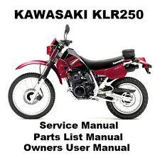 KLR250 - Owners Workshop Service Repair Parts List Manual PDF on CD-R KLR 250