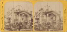 Exposition universelle de Paris 1889 Pavillon de Chili STEREO Vintage Albumine