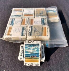 Scott #1339 Lot Of 800 Canceled 6c Stamps Illinois 1818-1968