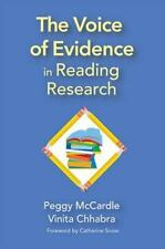 The Voice of Evidence in Reading Research  Hardcover