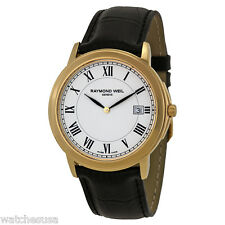 Raymond Weil Tradition White Dial Gold-Plated Men's Watch 5466-P-00300
