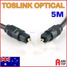 5M Toslink Optical Digital Audio Cable Fibre Optic S/PDIF 5 Meters O.D 4mm