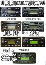 All Codes For Ford EON RDS Transit Radio Cassette Cd Player Code -100% Guarantee