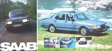 SAAB 900 1981-1982 ORIGINALE UK SALES BROCHURE GL GLS gli GLE & Turbo No. 211672