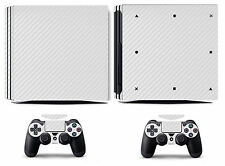 White Carbon Fiber Vinyl Skin Sticker Cover for Sony PS4 Pro PlayStation 4 Pro