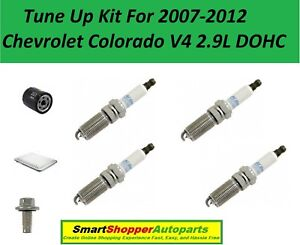 Tune Up For 2007 2008 - 2012 Chevrolet Colorado 2.9L Spark Plug, Air Oil Filter