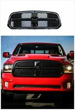 Black OE Style For 13-18 Dodge Ram 1500 Grill ABS Honeycomb Bumper Mesh W/ LOGO