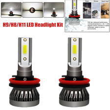2PCS Car LED Headlight Bulbs Conversion Kit H9/H8/H11 High Low Beam 6500K White