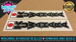 1983 - 1985 Kuwahara 'FORK' Vintage BMX Decal Sticker (Black) KZ Laserlite forks