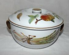 """Royal Worester Evesham 6 3/4"""" Handled Covered Oven-to-Table Baker (England)"""