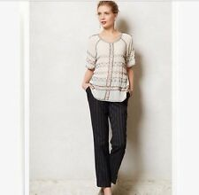 Anthropologie Cartonnier Women's Lou Taper striped pants-NWT! RT $148- SZ 4P