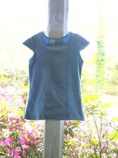 CHEZ AMI GIRLS SUMER SKIRT SET OUTFIT SZ. 8 BLUE GREEN AND BLUE DOTS NWT