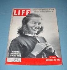 LIFE MAGAZINE NOVEMBER 10 1952 DUCK HUNTER JEANNIE HUSTON PRISON RIOTS OHIO ILL