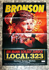 BRONSON * LOCAL 323 - A1 VIDEO-POSTER - German 1-Sheet ´87 Act of Vengeance