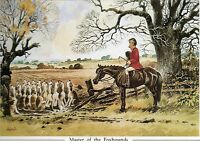 Thelwell's Humourous Mounted Hunting Print set of 4 Master of the foxhounds +3