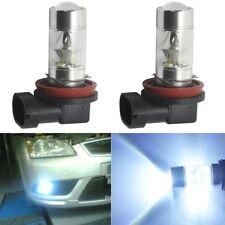 2PCS H8 H11 H16 6000K White 100W High Power CREE LED Fog Headlight Light Bulb