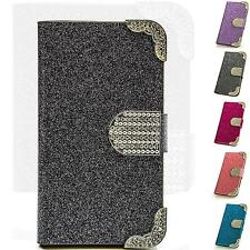 Luxus Strass Handy Tasche Schutz Hülle Book Case Cover Flip Etui Bag Motiv M215