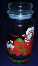 Vtg Strawberry Shortcake Glass Jar with Lid American Greeting 8 1/2 in Bright