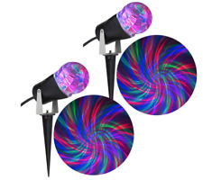 BRAND NEW BOXED set of 2 Light Show Projection Christmas Light Ribbon Combo Pack