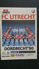 Programme / Programma FC Utrecht v Dordrecht '90 04-12-1994