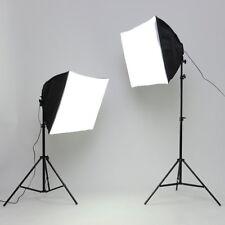 Stativ Set Fotostudio Studio Lampe Leuchte Beleuchtung Softbox Tragetasche2x135W