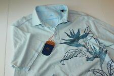 Tommy Bahama Polo Shirt Watch The Birdie LOL Blue T216662 New XX-Large XXL
