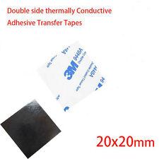 (5)x 3 M 20 x 20mm cinta adhesivo térmicamente de doble cara disipador de calor