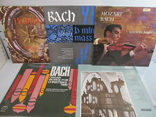 "BACH Record 12""LP Collection x 5 includes a 2 LP set Classical music"