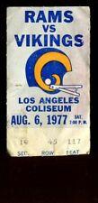 Ticket Football Los Angeles Rams 1977 8.6 Minnesota Vikings