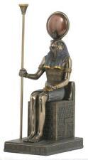 Veronese Bronze Figurine Egyptian God Horus Sitting Statue Gift Home Decor