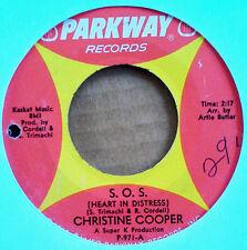 NORTHERN SOUL - CHRISTINE COOPER - S.O.S. b/w SAY WHAT U FEEL - PARKWAY 45 - '65